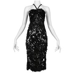 Tom Ford for Gucci Black Paillette Dress