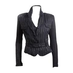 Giorgio Armani Luxurious Beaded Black Jacket, 1990s