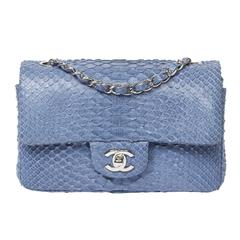 Chanel Mini Flap Powder Blue Python