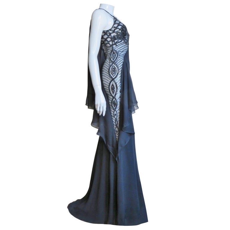 Valentino Incredible Sheer Side Gown