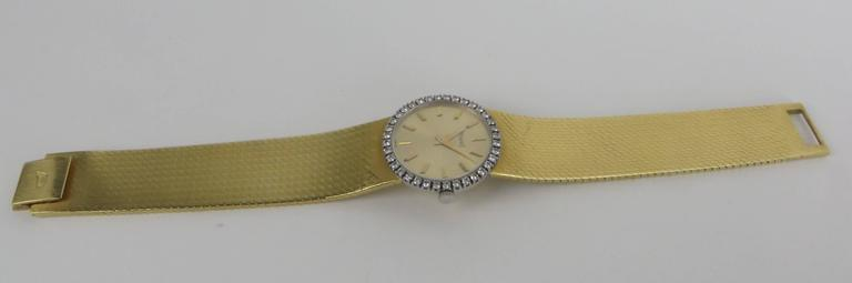 Piaget Ladies Yellow Gold Diamond Bracelet Wristwatch 2