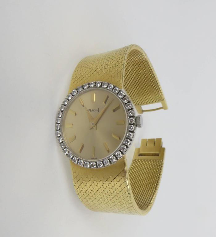 Piaget Ladies Yellow Gold Diamond Bracelet Wristwatch 3