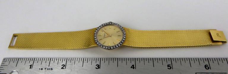 Piaget Ladies Yellow Gold Diamond Bracelet Wristwatch 6