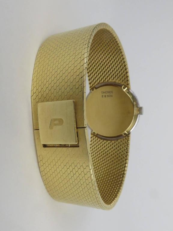Piaget Ladies Yellow Gold Diamond Bracelet Wristwatch 5