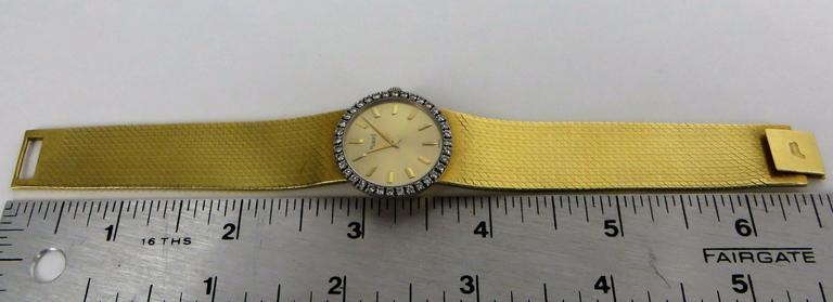 Piaget Ladies Yellow Gold Diamond Bracelet Wristwatch 8