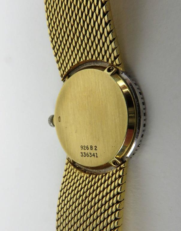 Piaget Ladies Yellow Gold Diamond Bracelet Wristwatch 9