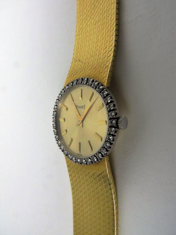 Piaget Ladies Yellow Gold Diamond Bracelet Wristwatch 10