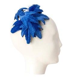 50s Blue Flower Cocktail Hat