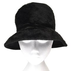 1970s Mr. John Classic Black Faux Fur Hat