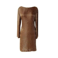 Tom Ford Dramatic Drape Beaded Evening Dress