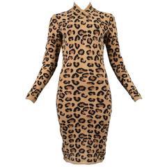 Iconic Alaia Leopard Dress 1991-1992