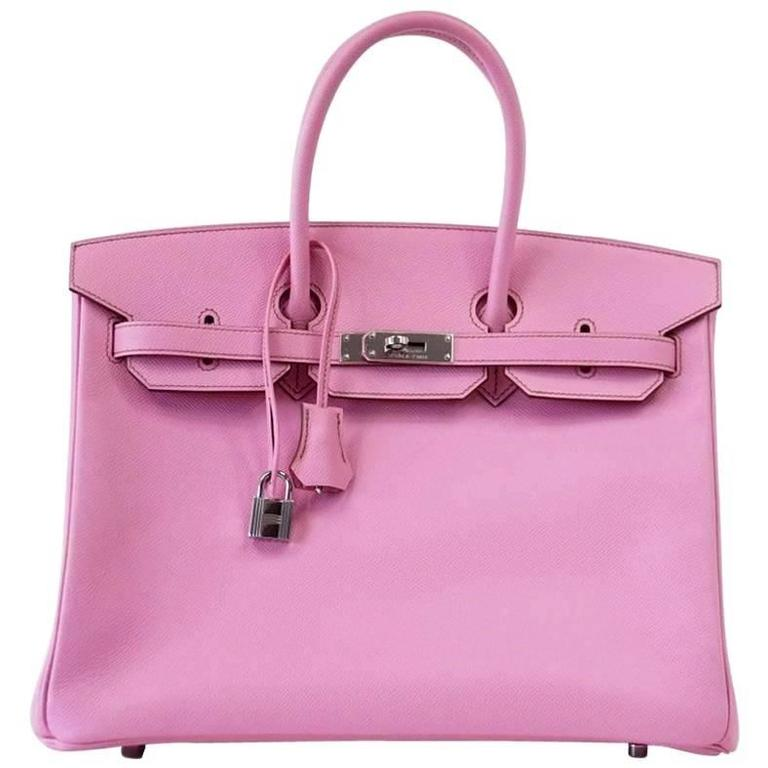 807a9a2ac5 HERMES BIRKIN 35 Bag 5P Pink Epsom Palladium Hardware at 1stdibs