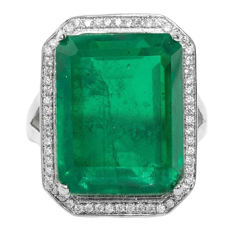 faux emerald ring at 1stdibs