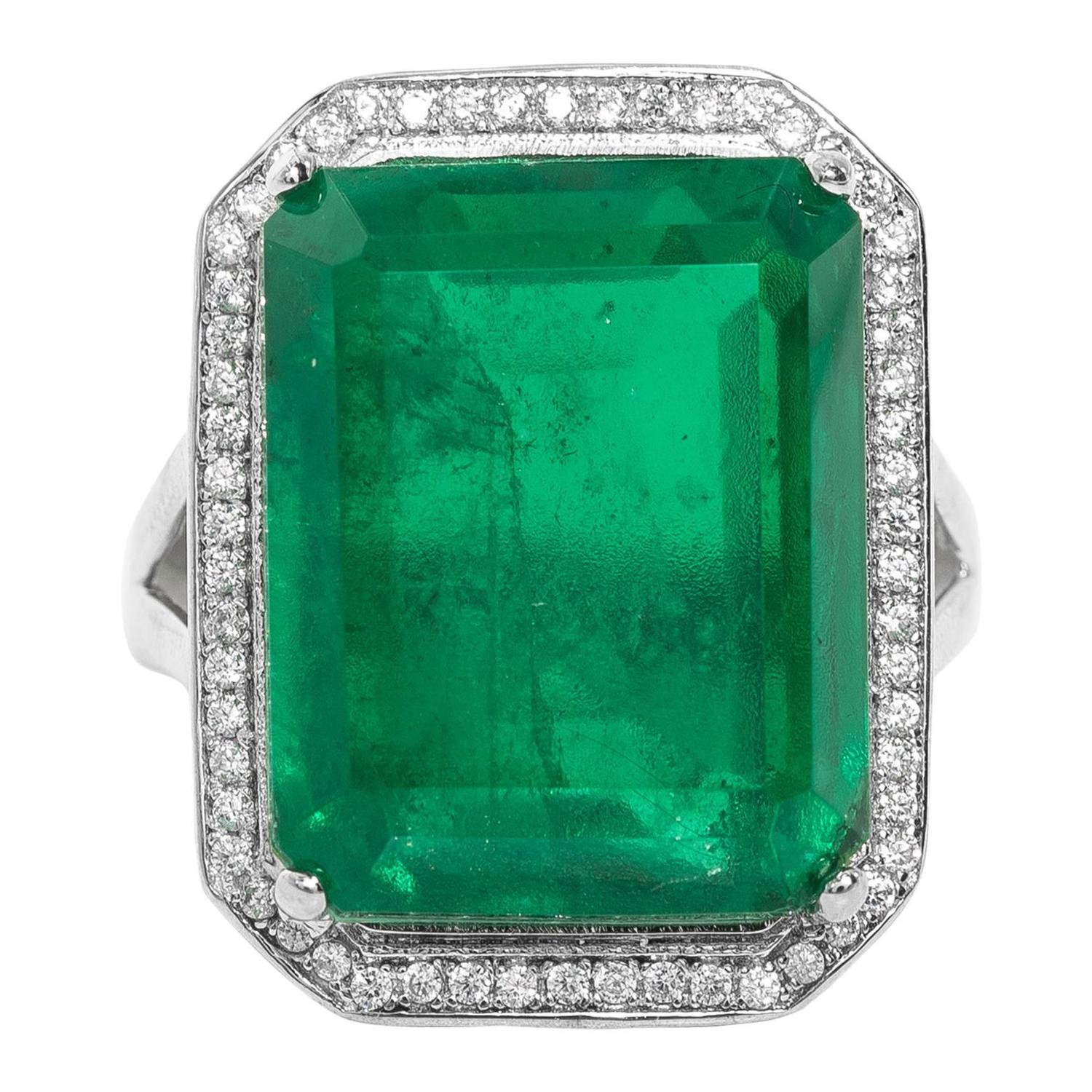 faux emerald ring for sale at