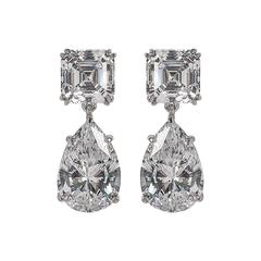 For Day And Night  Faux Diamond Cubic Zirconia Drop Earrings