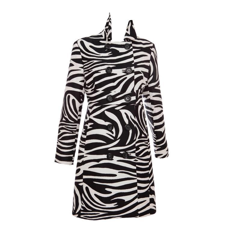 Michael Kors For Celine Wool Zebra Print Coat