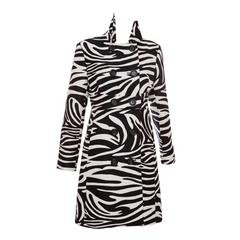 Michael Kors For Celine Wool Zebra Print Coat