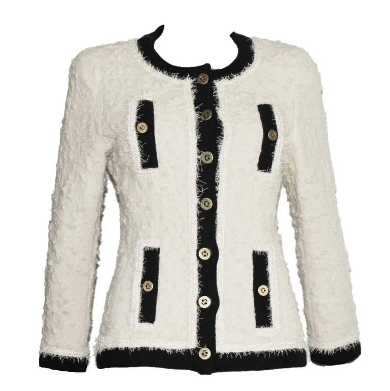 Iconic Collector's CHANEL Signature Boucle Jacket 1994 For Sale
