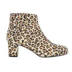 Warren Edwards Leopard Print Suede Ankle Boots