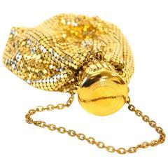 1920s Whiting and Davis Gold Handbag