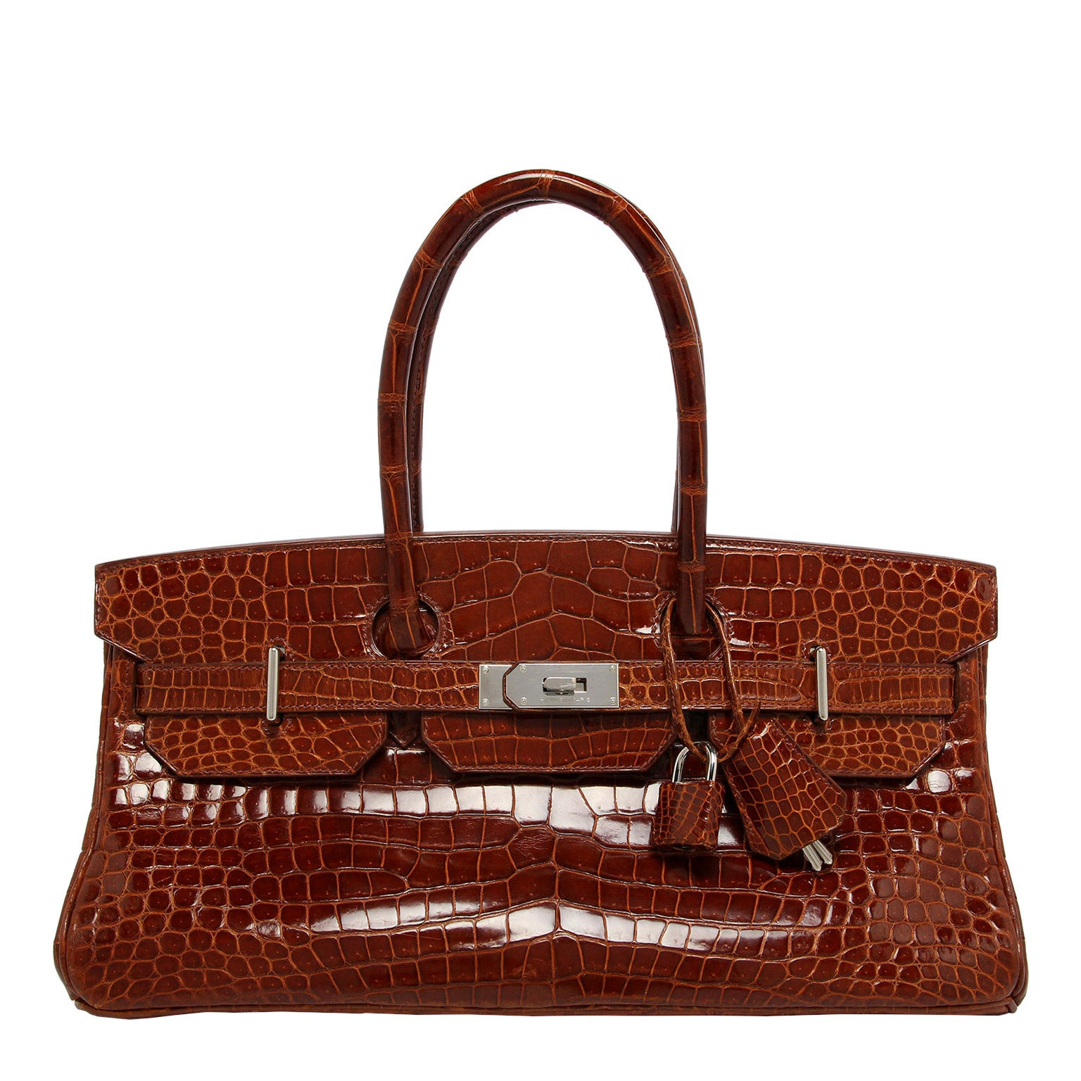 fc387160a038 Hermes JPG Shoulder Birkin Miel Shiny Porosus Croc Palladium Hardware For  Sale at 1stdibs