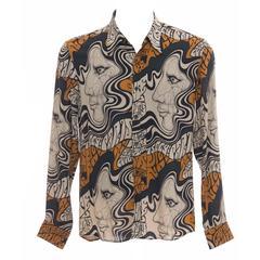 Dries Van Noten Printed Men's Button Front Shirt