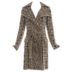 Dolce & Gabbana Runway Python And Silk Chiffon Trench Coat, Spring - Summer 2005