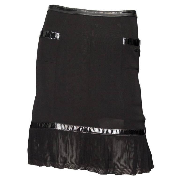 Flirty Little Black Chanel Skirt For Sale