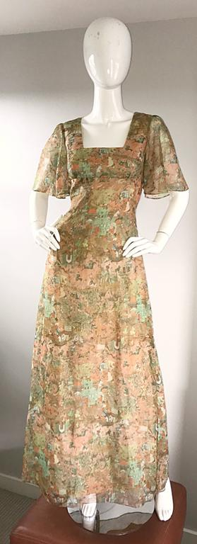 Rare Ricky Richards 1970s ' Asian Warriors ' Vintage 70s Novelty Boho Maxi Dress 2