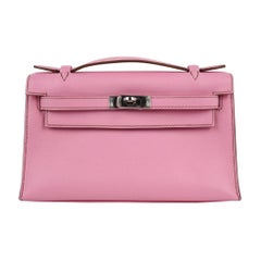 Hermes Kelly Pochette Coveted 5P Pink Holy Grail New