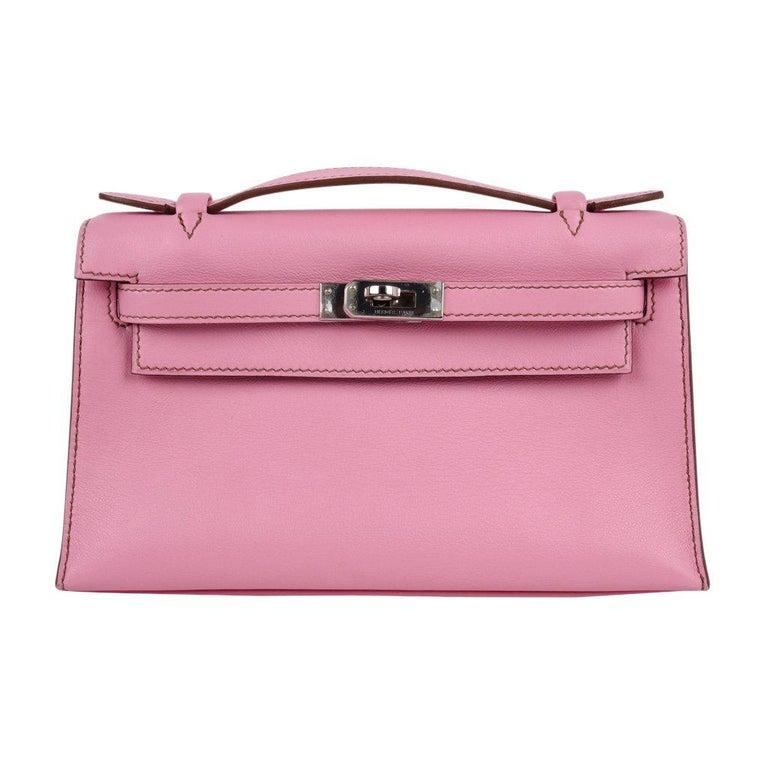 Hermes Kelly Pochette Coveted 5P Pink Holy Grail New