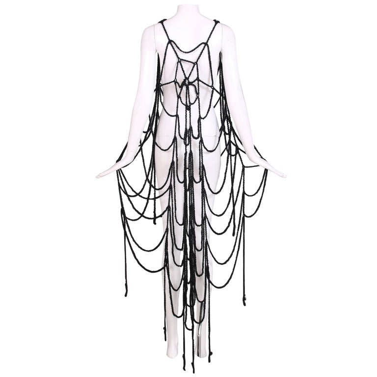 Maison Margiela Black Wool Spider Web Scarf 1