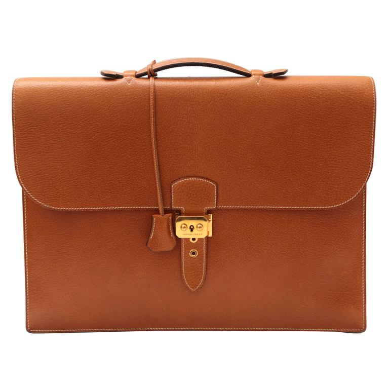 Hermes Sac A Depeches Tan For Sale