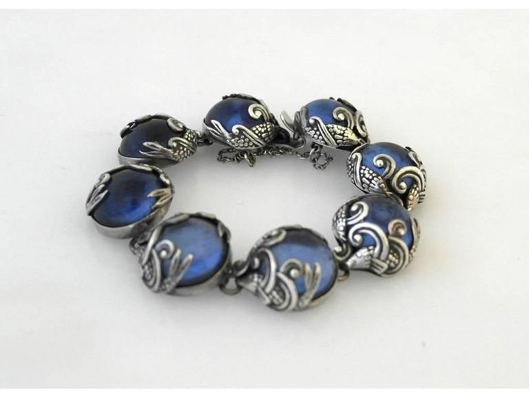 los castillo taxco sterling silver fish motif bracelet for On los castillo taxco jewelry