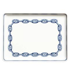 Hermes White Porcelain Decorative Desk Table Tray Dish in Box