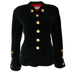 Yves Saint Laurent Green Velvet Jacket