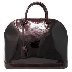 Louis Vuitton Alma GM Vernis Amarante Handbag with Receipt and Dust Bag