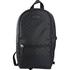 Gucci Black GG Guccissima Backpack Bag