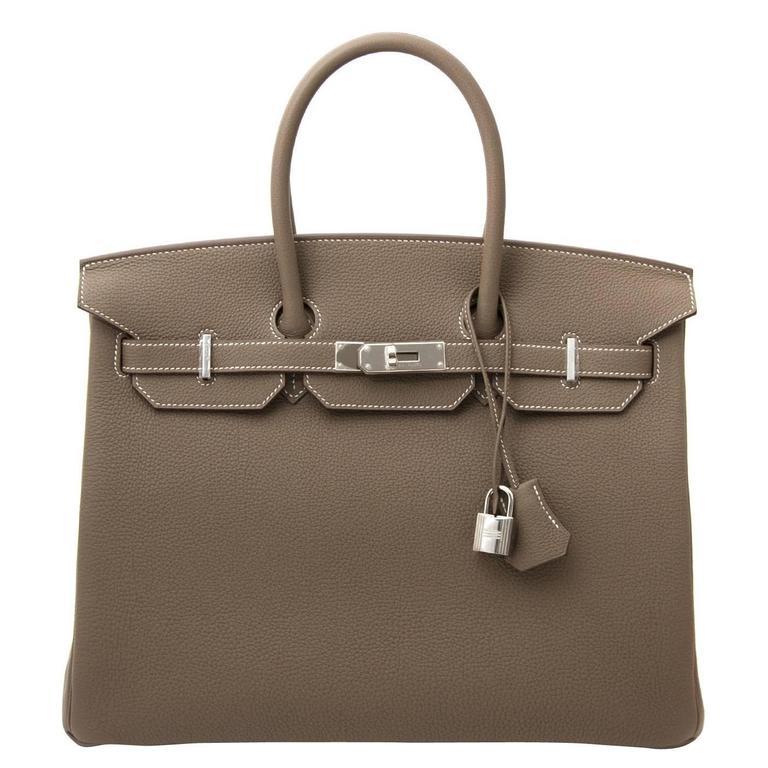 Hermès Birkin 35 Etoupe Togo PHW 1