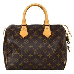 Louis Vuitton Monogram Speedy 25 Bag GHW w/ DB/Lock/Keys