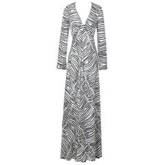 Stephen Burrows Zebra Print Dress circa 1970s