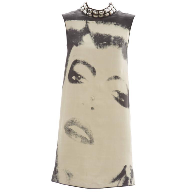 05fb0729b52 Alber Elbaz For Lanvin Silk Nylon Shift Dress, Spring - Summer 2007 For Sale
