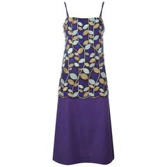 1996's Comme des Garcons Embroidered Purple Silk Dress