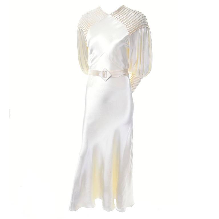 1920s glamorous slipper satin wedding dress gown statement for Slipper satin wedding dress