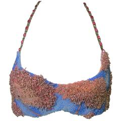 S/S 1992 Atelier Versace by Gianni Crystal Beaded Bra Top