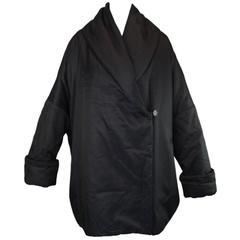 1980's Dolce & Gabbana Black Opera Coat Jacket