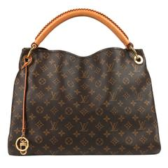 "LOUIS VUITTON Monogram Coated Canvas ""Artsy MM"" Shoulder Handbag Purse"