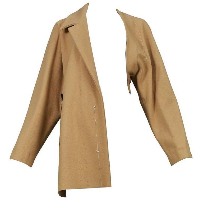 Maison Martin Margiela Tan Basting Coat 1997 1