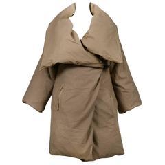 Maison Martin Margiela Artisanal Olive Duvet Coat 1999