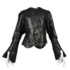 Maison Martin Margiela Artisanal Leather Circle Jacket